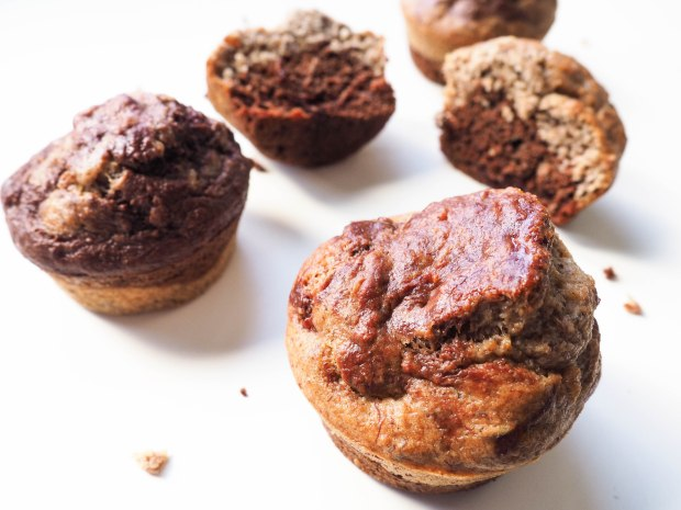 Healthy Vegan Chocolate Banana Muffins