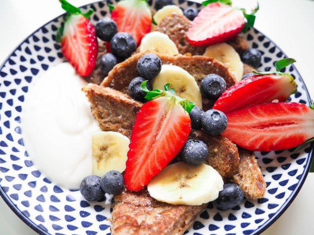 Healthy Vegan Fruity French Toast