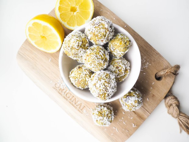 Lemon Coconut Poppy Seed Bliss Balls