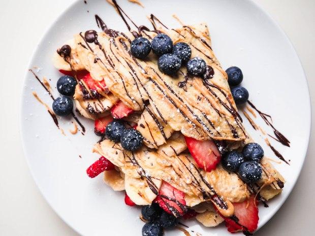 Vegan Fruity Crepes