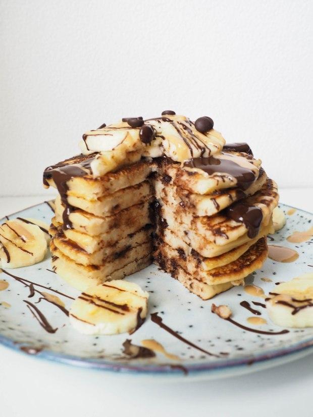 Silken Tofu Pancake Stack