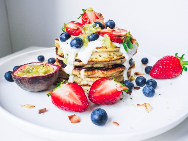 Fluffy Quark Pancakes Stack