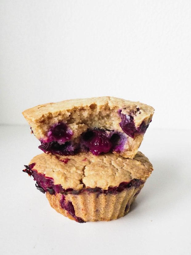 Vegan Blueberry & Vanilla Muffins