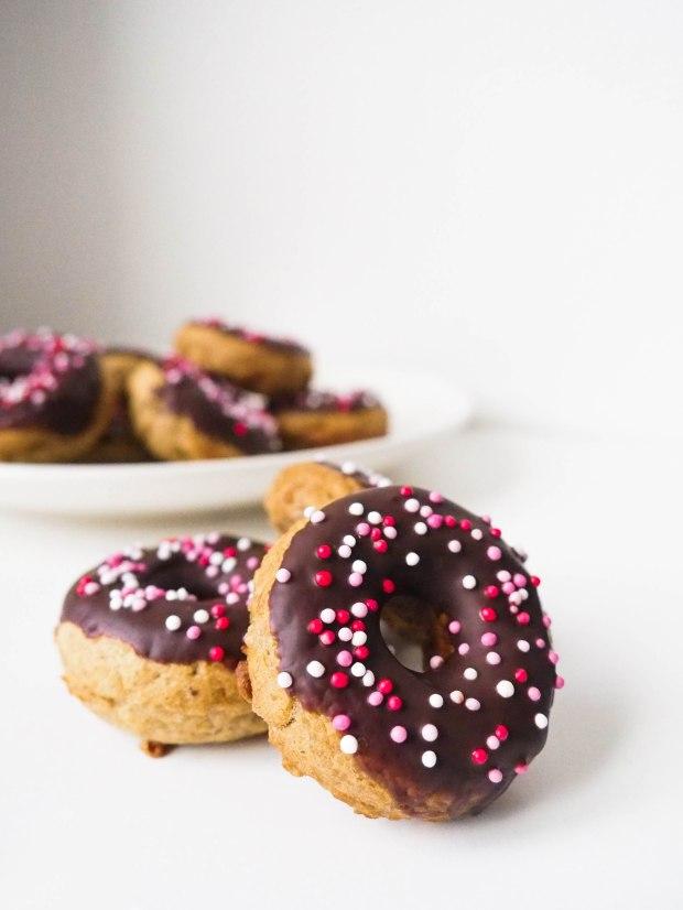 Vegan Birthday Chocolate Donuts