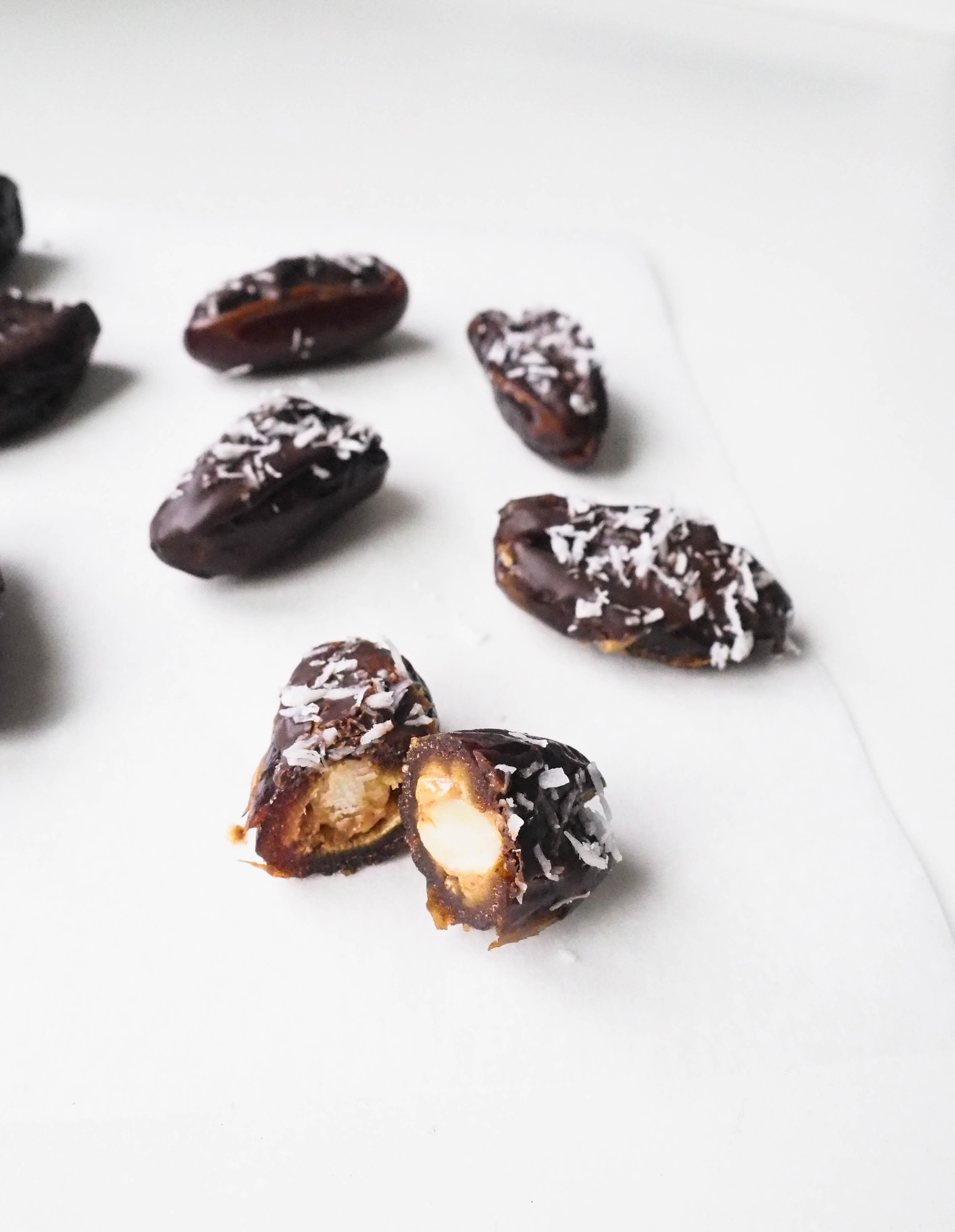 Vegan PB Stuffed Dates