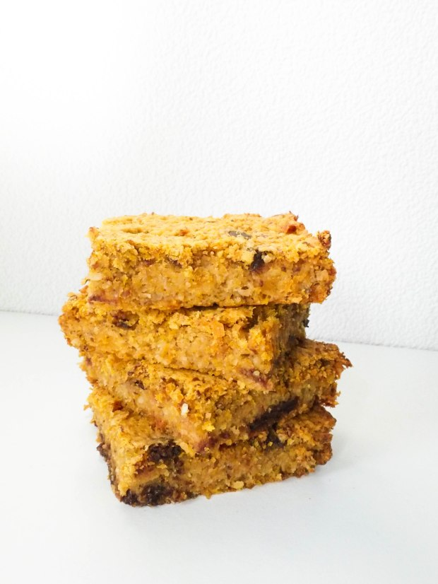 Pumpkin Chocolate Chip Blondies Vegan Stack